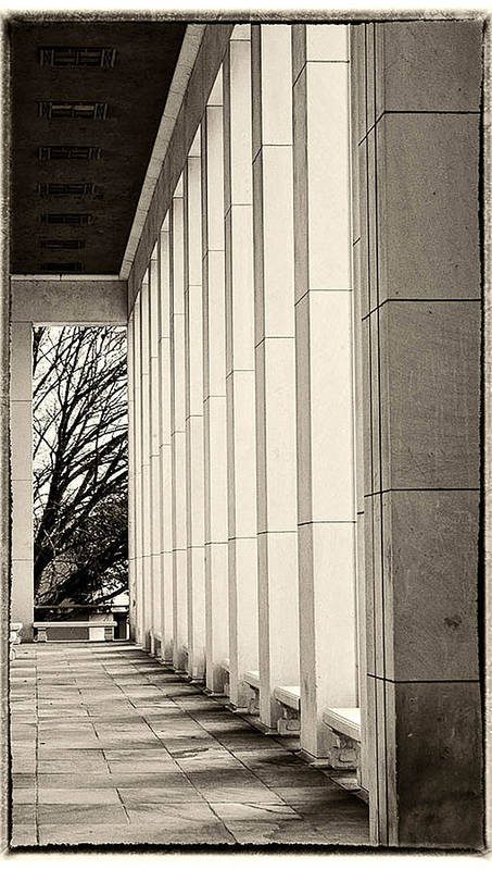 Architecture Poster featuring the photograph Lines by Corlis Chamberlain