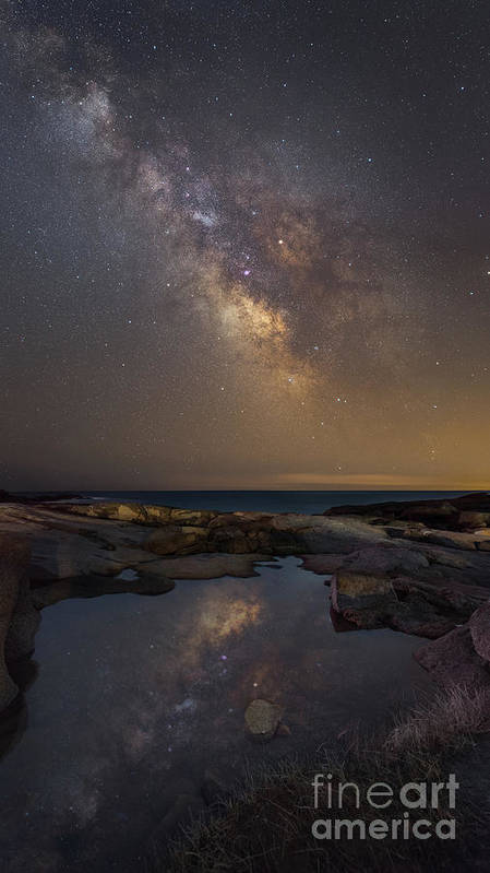 Midnight Explorer Poster featuring the photograph Mirror Reflections Panorama by Michael Ver Sprill