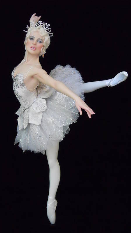 Ballet Poster featuring the sculpture Snow Queen by Vickie Arentz