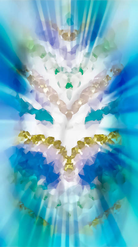 Turquoise Poster featuring the photograph Streams Of Light In Turquoise by Heather Joyce Morrill