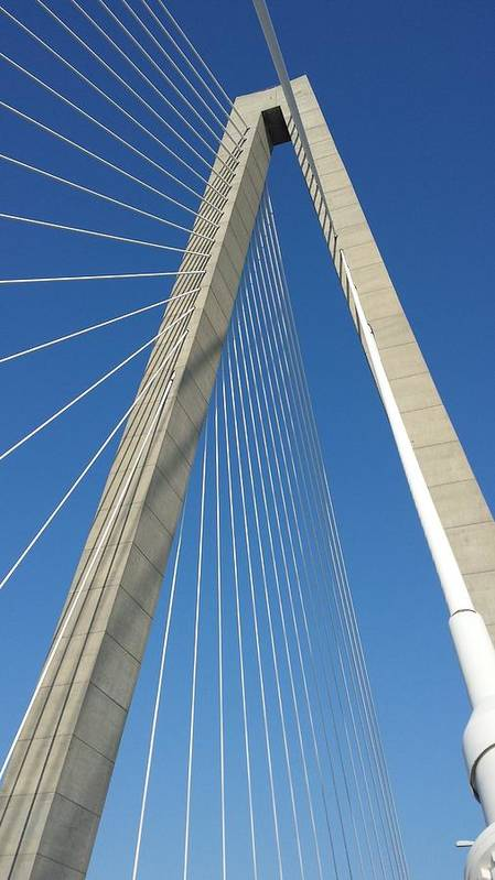 Bridge Poster featuring the photograph Suspension 2 by Jeff Harrell Jr