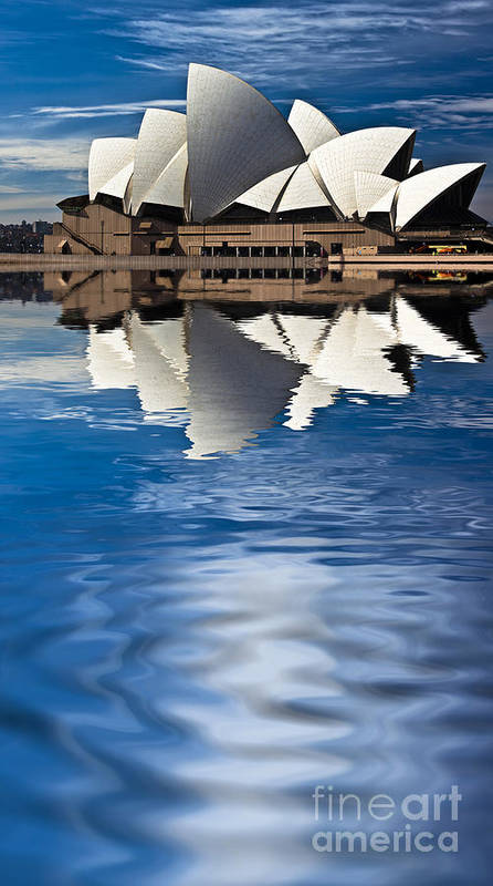 Sydney Opera House Sydney Harbour Poster featuring the photograph The Iconic Sydney Opera House by Sheila Smart Fine Art Photography