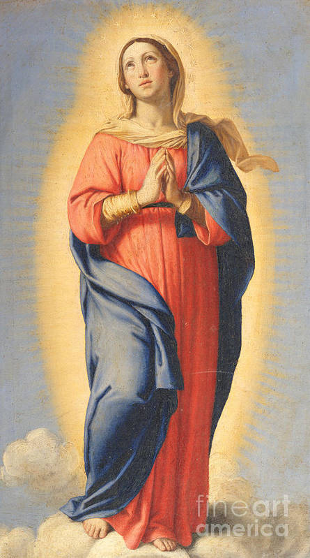 Mary Poster featuring the painting The Immaculate Conception by Il Sassoferrato