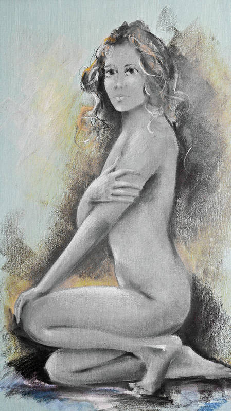 Woman Poster featuring the digital art Woman Painted by Andrea Barbieri