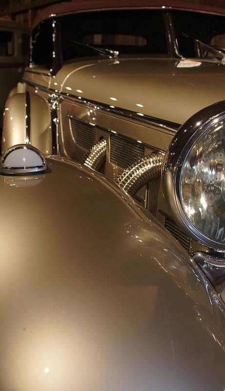 Mercedes Poster featuring the photograph 1938 Mercedes 540k Sport Tourer by Kathleen Vogel