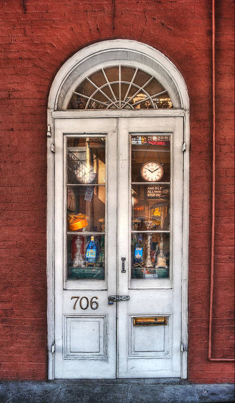 Door Poster featuring the photograph Bless All Those Who Step Inside by Brenda Bryant