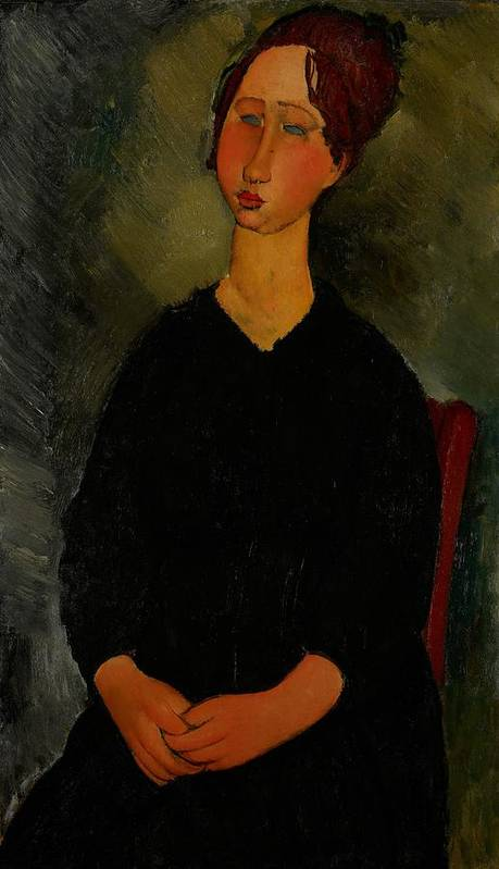 Amedeo Poster featuring the painting Little Servant Girl by Amedeo Modigliani