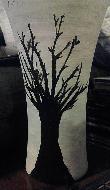 Vase Poster featuring the glass art Tree Vase by Lee Farley