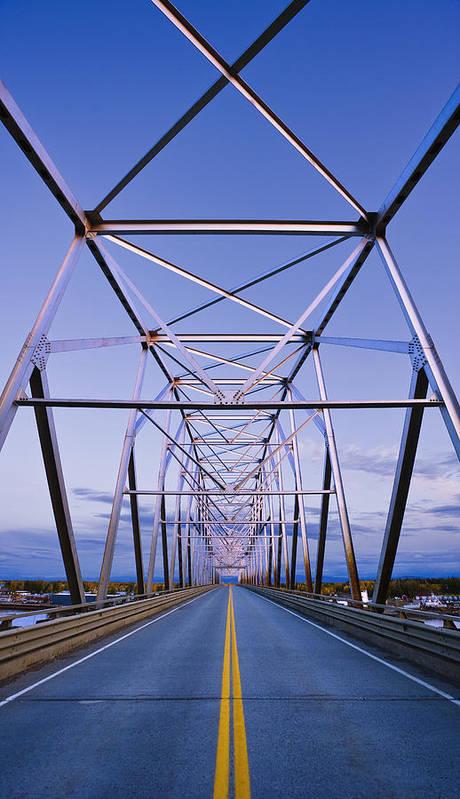 Bridge Poster featuring the photograph Alaska Native Veterans Honor Bridge by Yves Marcoux