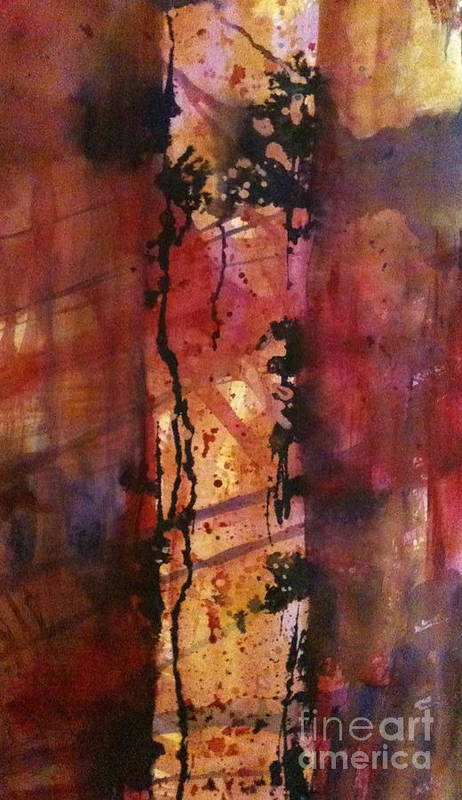 Tree Poster featuring the painting Standing Alone II by Holly Suzanne