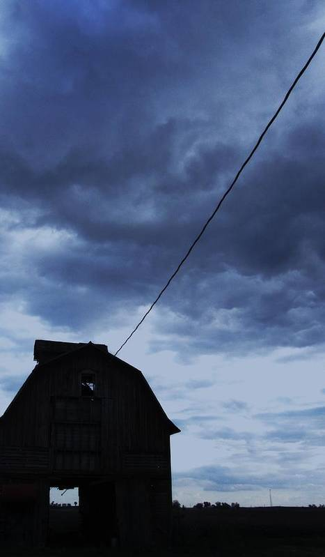 Barn With Stormy Sky Poster featuring the photograph Storm Acoming by Todd Sherlock