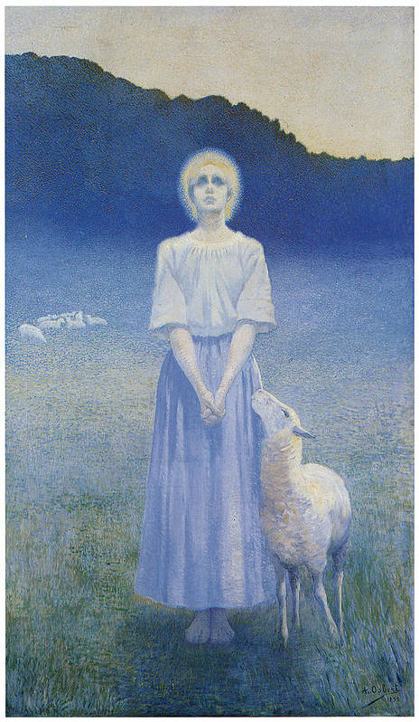 Alphonse Osbert Poster featuring the painting Vision by Alphonse Osbert