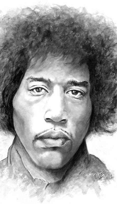 Musician Poster featuring the digital art Are You Experienced by William Walts