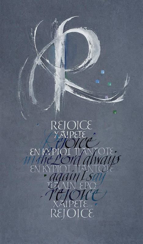 Christian Poster featuring the painting Rejoice I by Judy Dodds