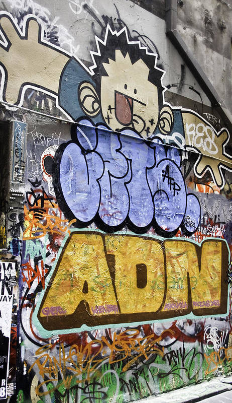 Abstract Poster featuring the photograph Grafitti Downunder 2 by Mark Coran