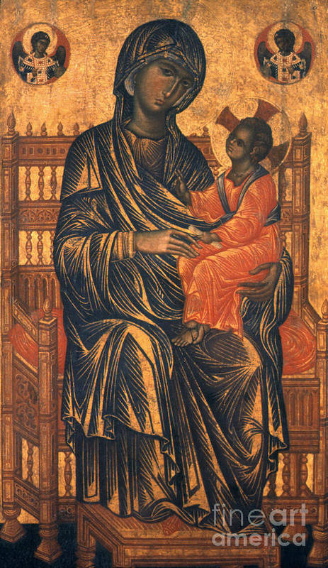 13th Century Poster featuring the photograph Madonna Icon, 13th Century by Granger