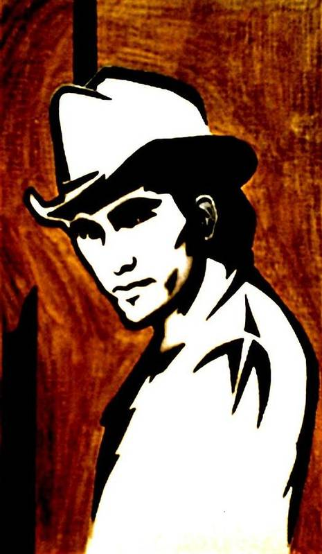 Portraits Poster featuring the painting Townes Van Zandt by Jeff DOttavio