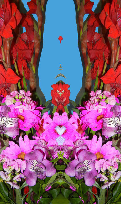 Floral Poster featuring the photograph Floral Fantasy by Bobbie Barth