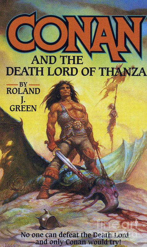 Covers Poster featuring the drawing Conan And The Death Lord Of Thanza 1997 by The Advertising Archives