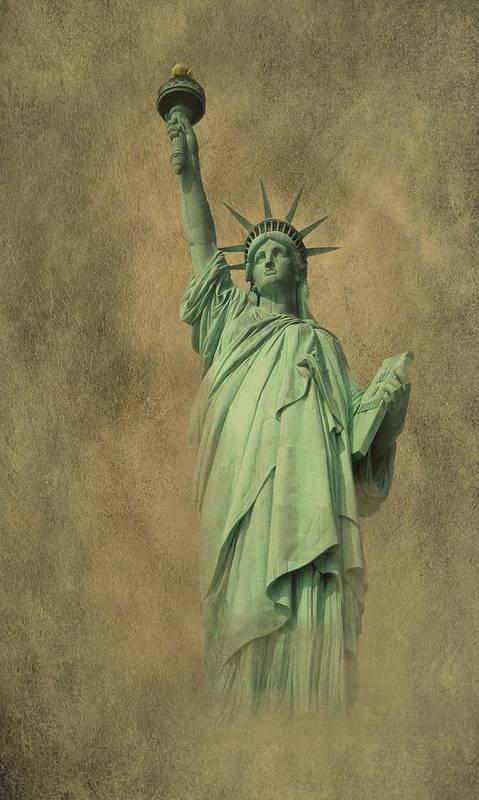 New York Poster featuring the photograph Lady Liberty New York Harbor by David Dehner