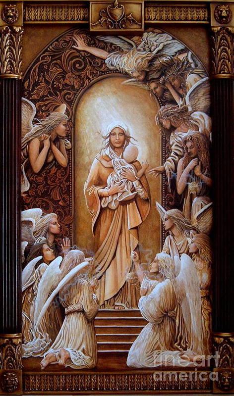 Pamela Roehm Poster featuring the painting L'amore De Dieu by Pamela Roehm