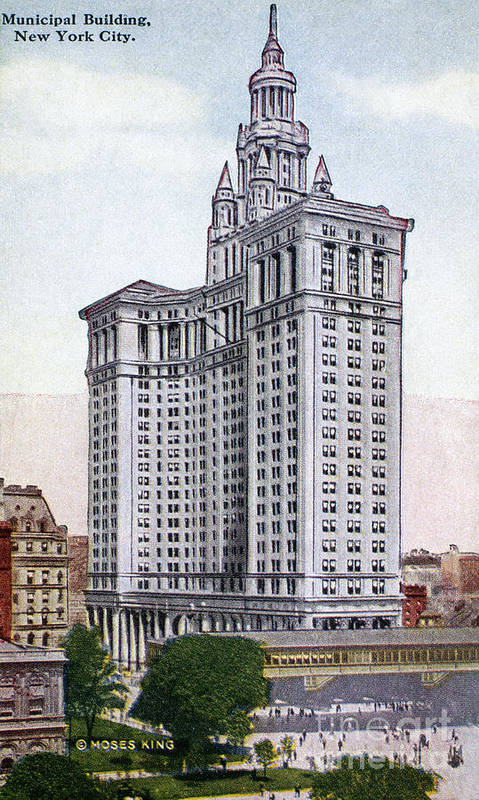 1930 Poster featuring the photograph Municipal Building by Granger