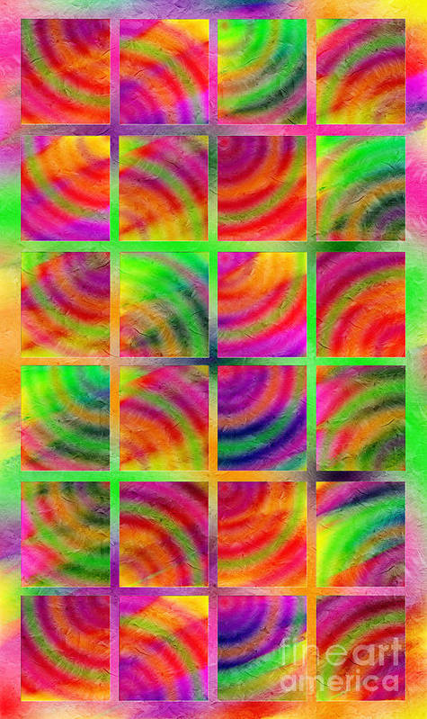 Abstract Poster featuring the digital art Rainbow Bliss 3 - Over The Rainbow V by Andee Design