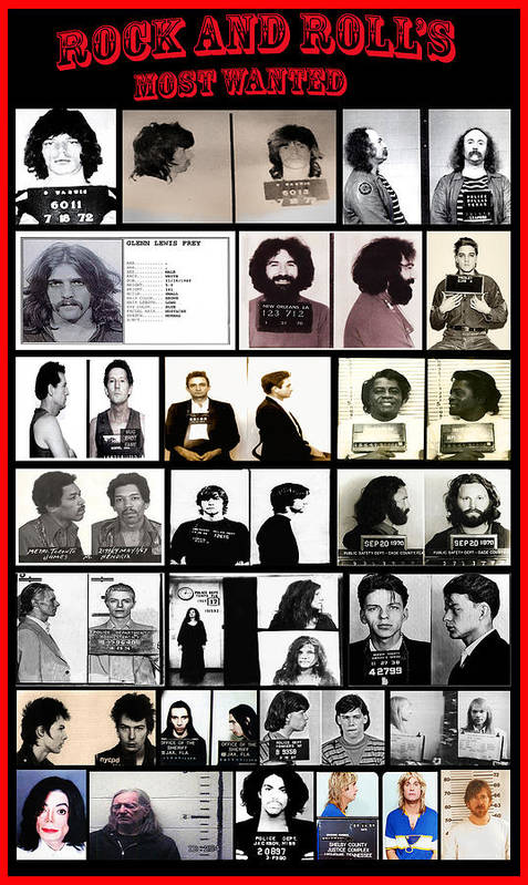 Rock And Roll S Most Wanted Poster By Bill Cannon