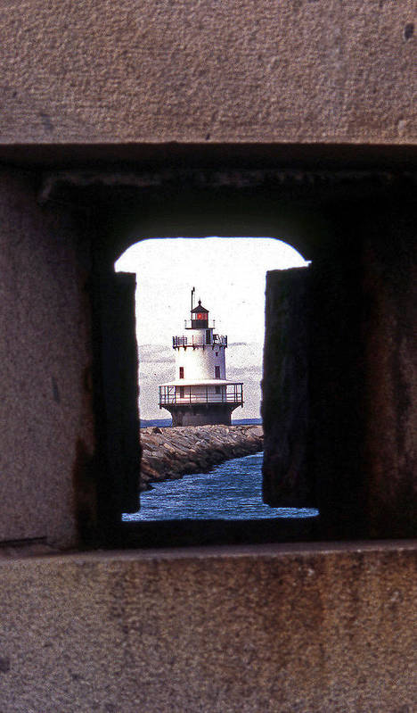 Spring Point Lighthouse Poster featuring the photograph Spring Point Ledge Lightouse by Skip Willits