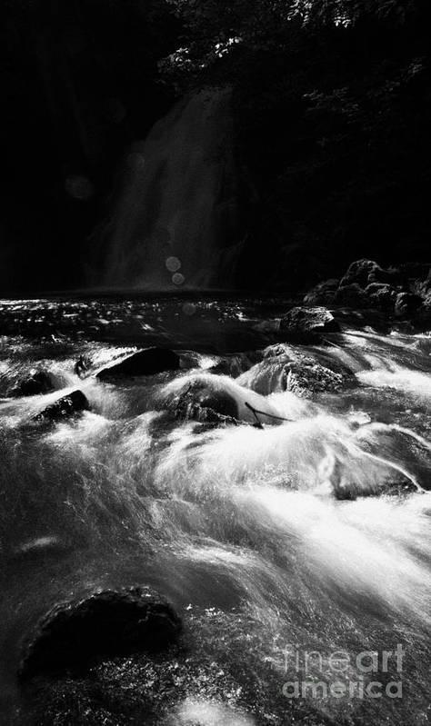 Glenoe Poster featuring the photograph Gleno Or Glenoe Waterfall County Antrim Northern Ireland by Joe Fox
