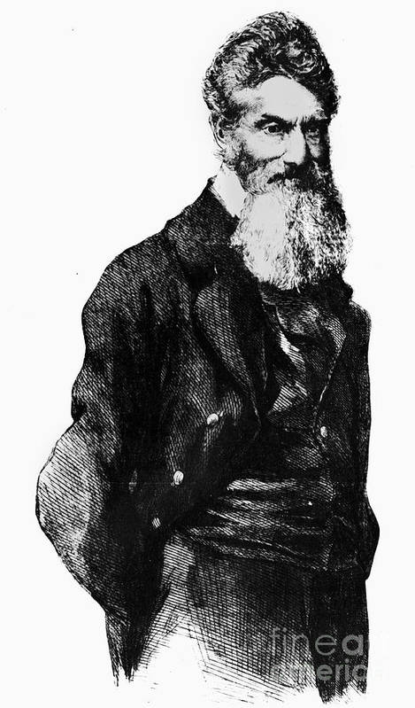 1859 Poster featuring the photograph John Brown (1800-1859) by Granger