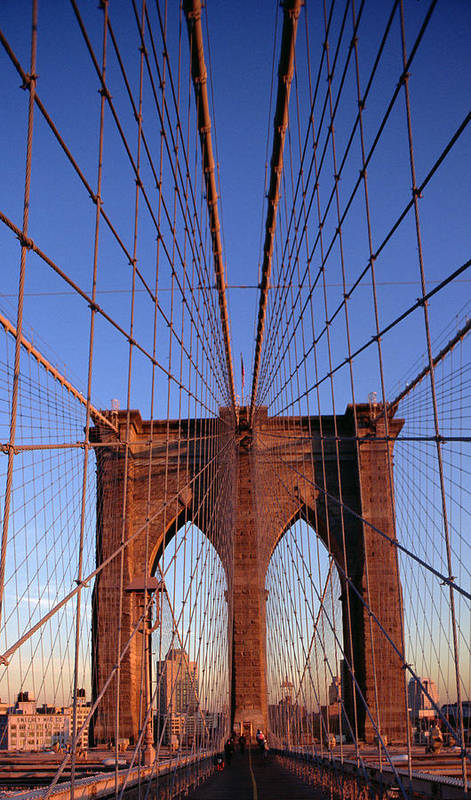 Brooklyn Bridge Poster featuring the photograph Brooklyn Bridge by Brooklyn Bridge
