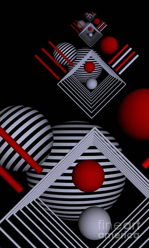3d Poster featuring the digital art Depth  -7- by Issabild -
