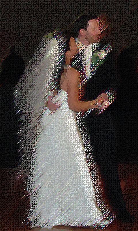 Wedding Poster featuring the digital art First Dance by JoAnne Castelli-Castor
