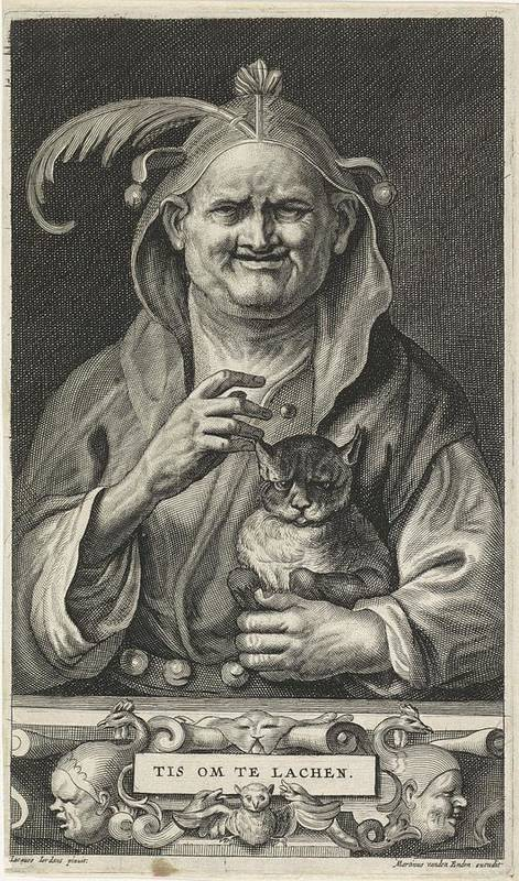 Man Poster featuring the painting Old Jester With Cat, Alexander Voet II, After Jacob Jordaens I, 1662-1674 by Jacob Jordaens