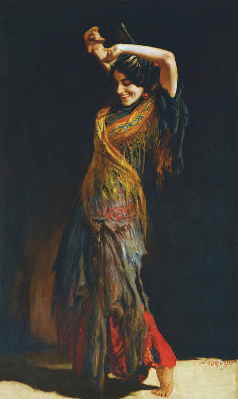Leopold Schmutzler (austrian Poster featuring the painting The Flamenco Dancer by MotionAge Designs