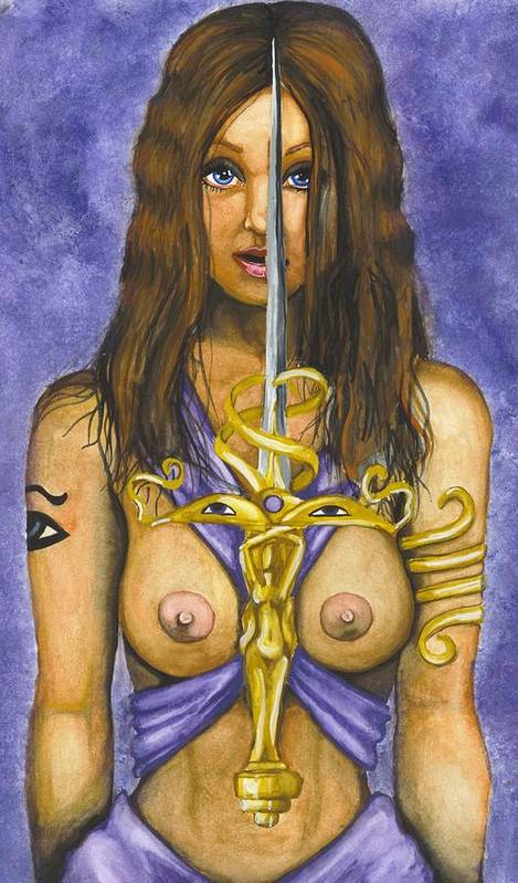Sword Poster featuring the painting The Sword Of Magic by Scarlett Royal