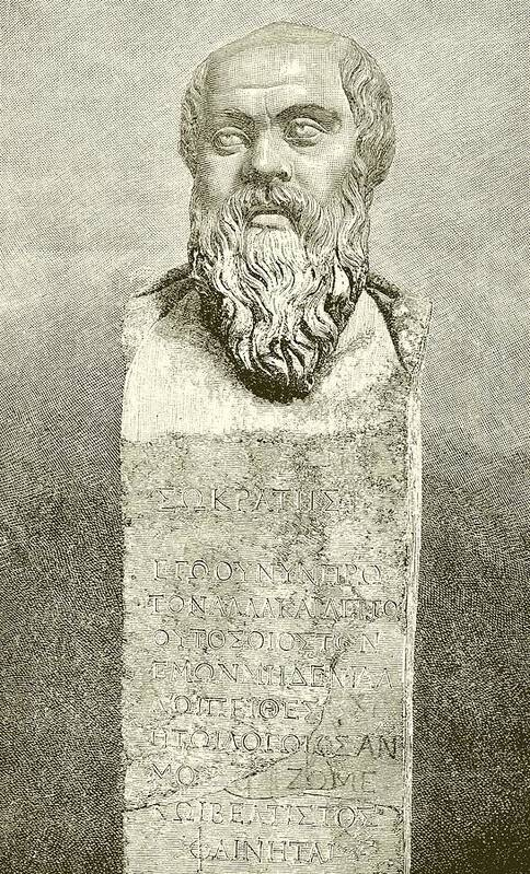 Ancient; Greece; Greek; Socrates; Socrates Poster featuring the drawing Socrates by English School