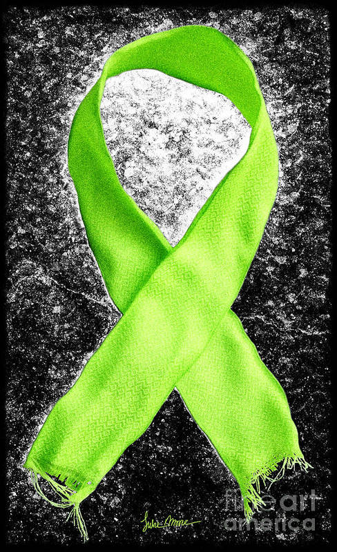 Lyme Poster featuring the photograph Lyme Disease Awareness Ribbon by Luke Moore