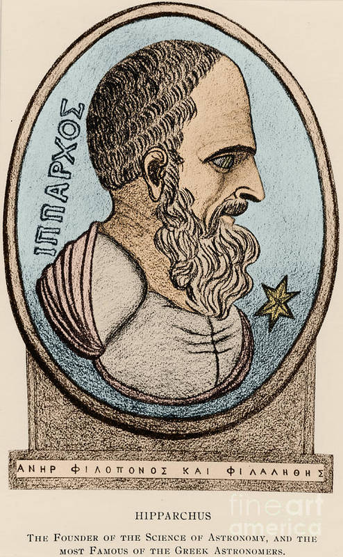 Science Poster featuring the photograph Hipparchus, Greek Astronomer by Photo Researchers, Inc.