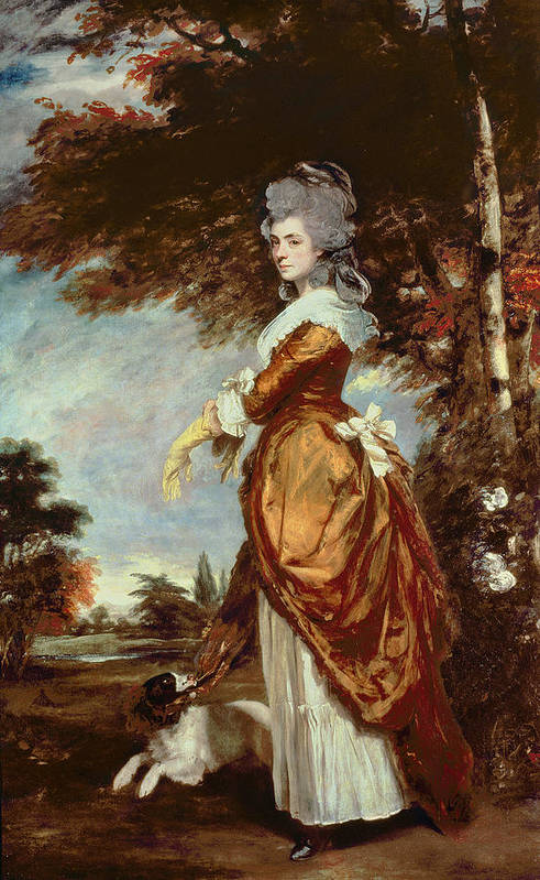 Woman Poster featuring the painting Mary Amelia First Marchioness Of Salisbury by Sir Joshua Reynolds