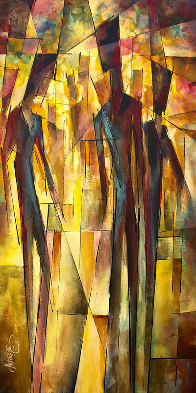 Figurative Poster featuring the painting ' Untitled ' by Michael Lang
