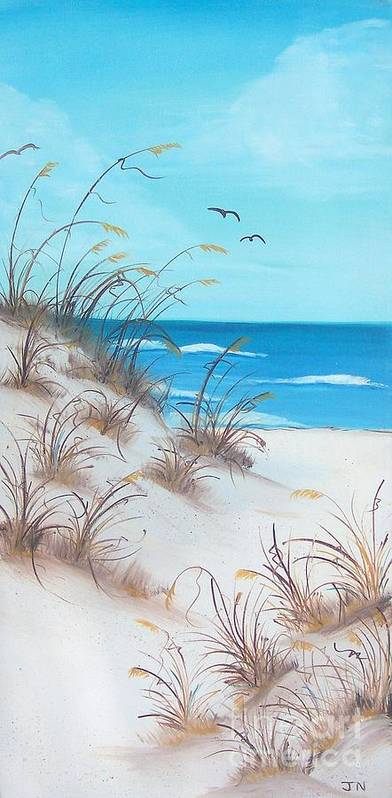 Oil Poster featuring the painting Dunes Day by JoNeL Art
