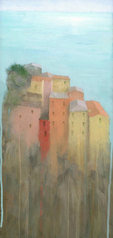 Art Poster featuring the painting Cinque Terre by Steve Mitchell