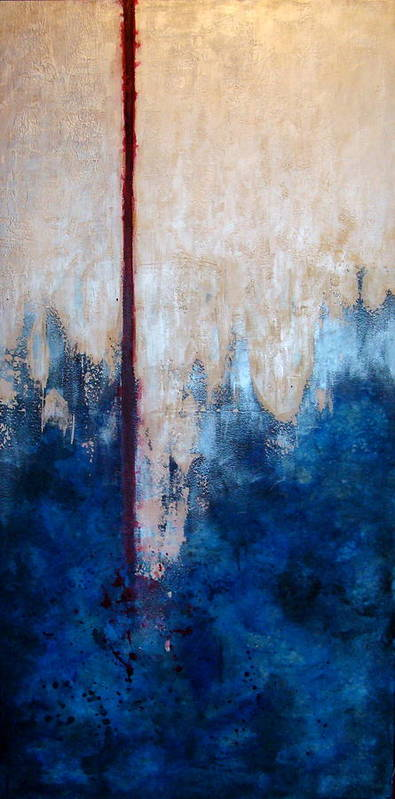 Abstract Poster featuring the painting Prayer for Joshua by Teresa Carter