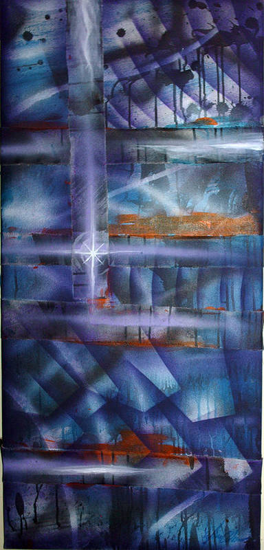 Purple Poster featuring the painting Purple by Leigh Odom