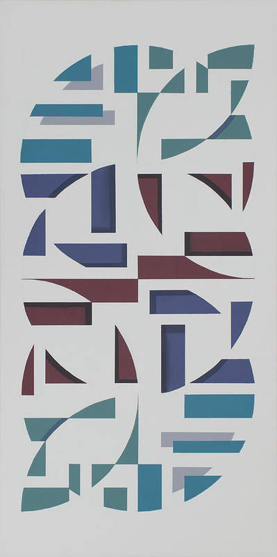 Abstract Geometric Painting Poster featuring the painting Reflections by Marston A Jaquis