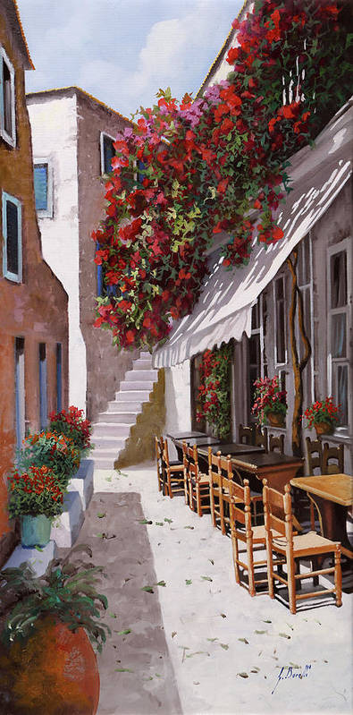 Greece Poster featuring the painting Sedie E Tavoli by Guido Borelli