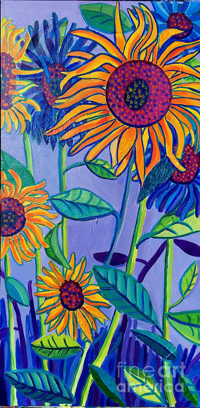 Sunflowers Poster featuring the painting Sunflower Garden by Debra Bretton Robinson