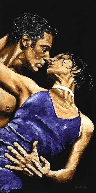 Couple Poster featuring the painting Tango Heat by Richard Young